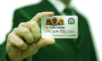 Businessman holding CPS fuel card in hand
